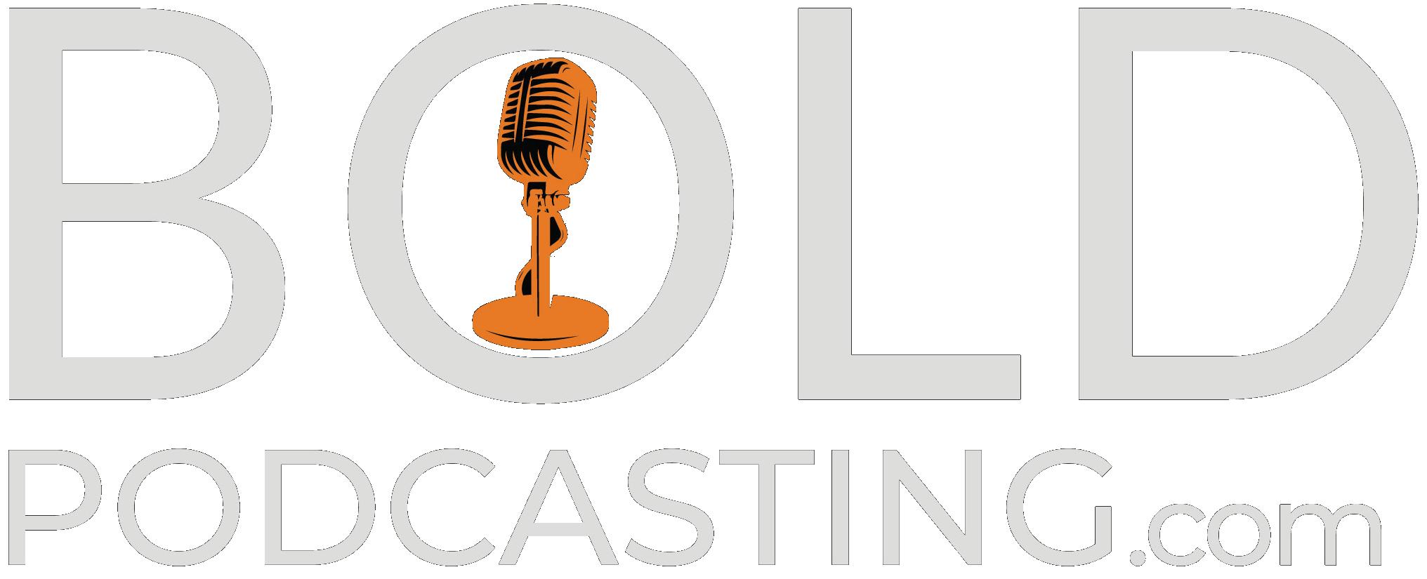 Bold Podcasting Color Logo Black background